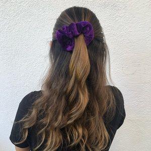 Purple Velvet Scrunchie! 3 for $15
